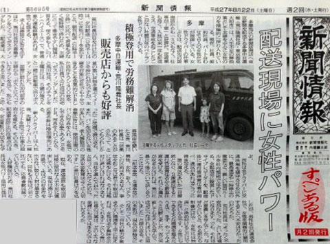 新聞情報2015年8月22日掲載記事
